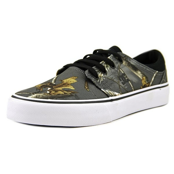 DC Shoes Trase Realtree Men Round Toe Canvas Gray Skate Shoe