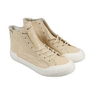 Huf X Thrasher Classic Hi Mens Tan Leather High Top Lace Up Sneakers Shoes (Option: 6)
