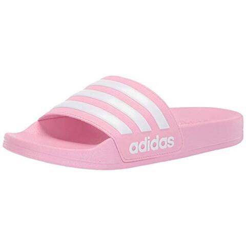adidas Kids' Adilette Shower Sandal, true pink/white/true pink