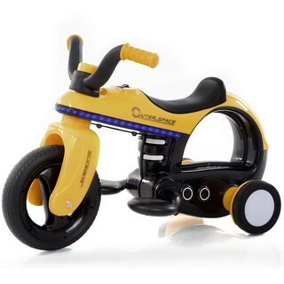 Costway 3 Wheel Kids Ride On Motorcycle Trike 6V Battery Powered Toddler Toy Horn Music