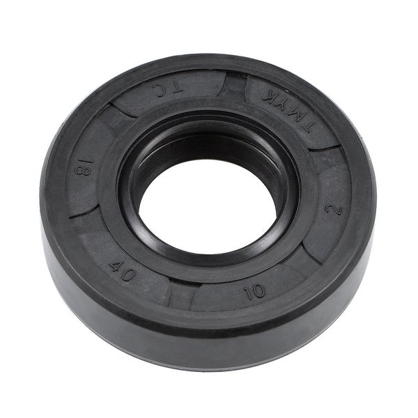 Oil Seal, TC 18mm x 40mm x 10mm, Nitrile Rubber Cover Double Lip - 18mmx40mmx10mm