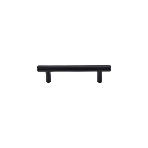 "Top Knobs M988 Hopewell 3-3/4"" Center to Center Bar Cabinet Pull from the Bar Pulls Series - Flat Black"