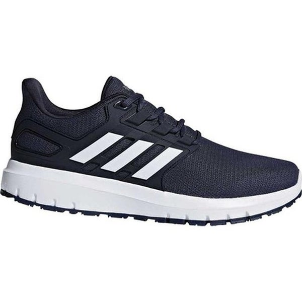 new style 8ef62 21a5e adidas Mens Energy Cloud 2-Tone Knit Mesh Running Shoe Collegiate  NavyFTWR White