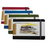 "Global Art - Hand Book Artist Journals - Large Landscape - 8-1/4"" x 5-1/2"" - Vermilion Red"