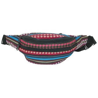 CTM® Fashion Striped Jute Waist Pack (More options available)