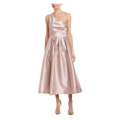 KAY UNGER Light Pink Sleeveless Tea-Length Dress 12 - Light Pink