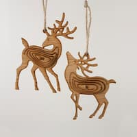 Pack of 24 Rustic Lodge Brown Reindeer Christmas Ornaments 6""