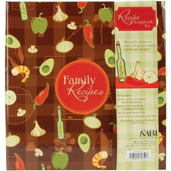 """MBI Family Recipes 3-Ring Album Kit-5""""X7"""" Recipe Cards"""