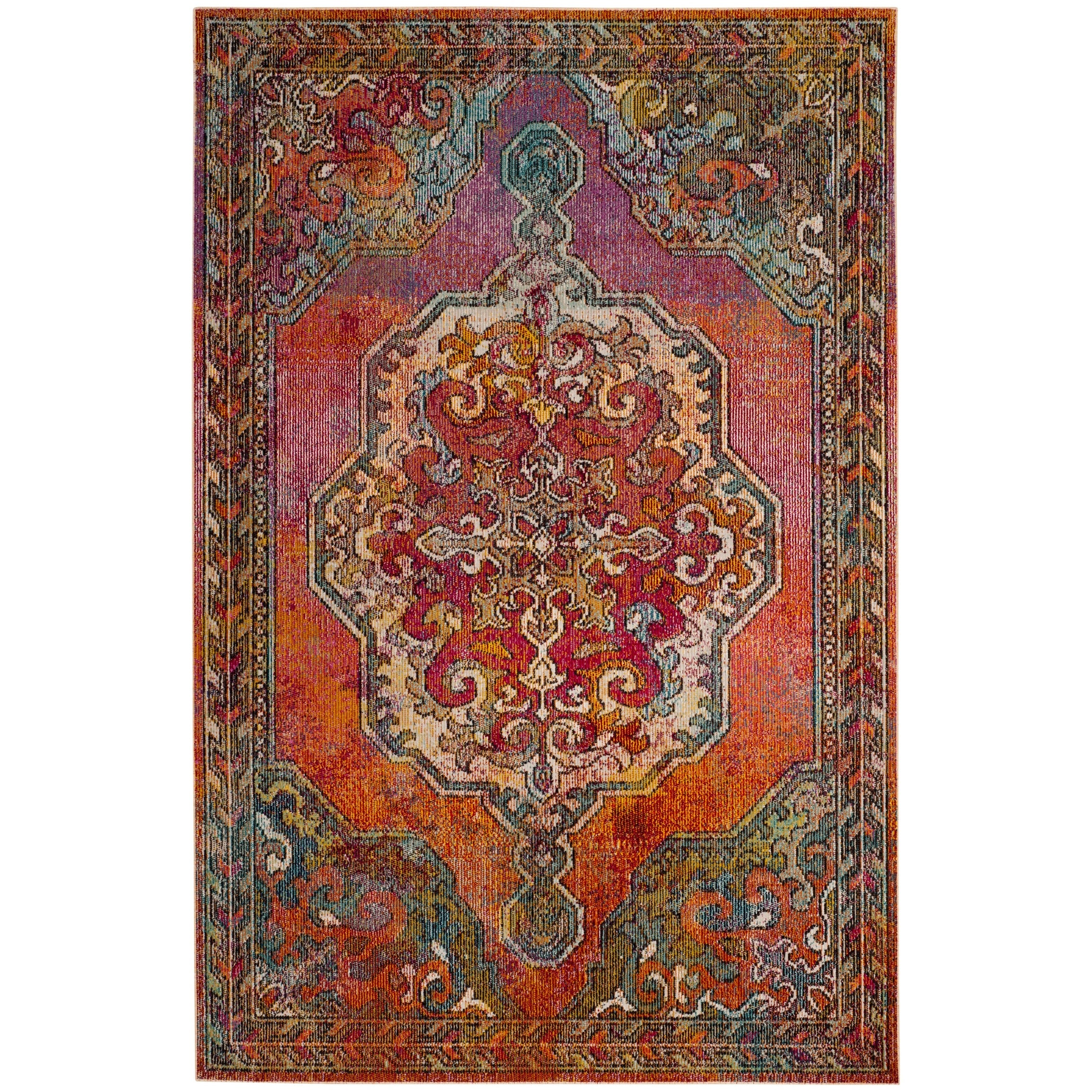 thumbnail 9 - Safavieh-Crystal-Merna-Vintage-Boho-Oriental-Rug