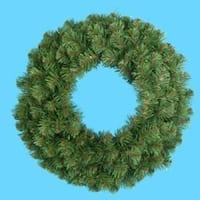 "24"" Virginia Pine Artificial Christmas Wreath - Unlit - green"