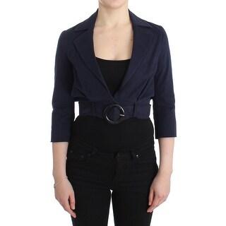 GF Ferre GF Ferre Blue Short Cropped Jacket Shrug Blazer - it40