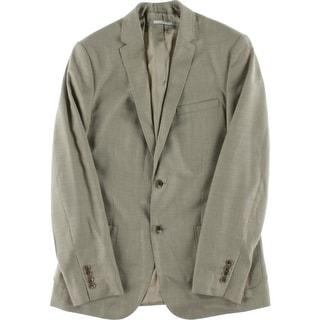 Calvin Klein Mens Linen Blend Slim Fit Two-Button Suit Jacket - S