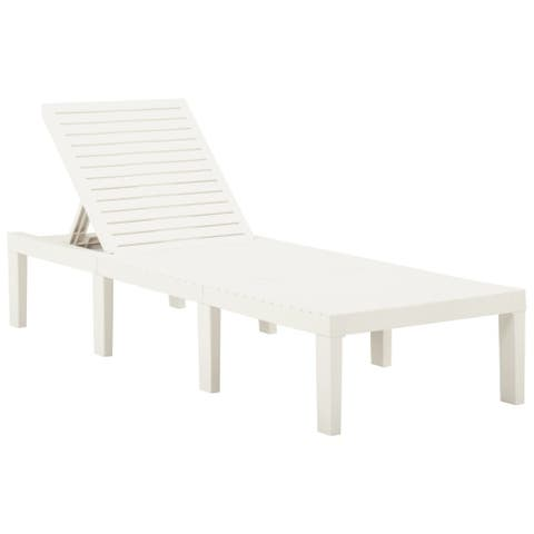 vidaXL Sun Lounger Plastic White