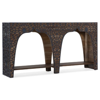 """Hooker Furniture 638-85464  Tassiana 14"""" Long Pecan and Poplar Wood Console Table from the Melange Collection"""