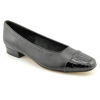 Vaneli Frankie Square Toe Leather Flats
