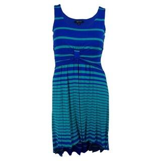 Spense Women's Sleeveless Striped High-Low Dress - pl