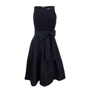 Tommy Hilfiger Women's Sash Belted Fit & Flare Dress - Black (5 options available)