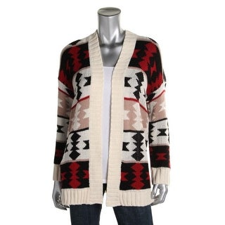 Polly & Esther Womens Juniors Cardigan Sweater Knit Pattern - M