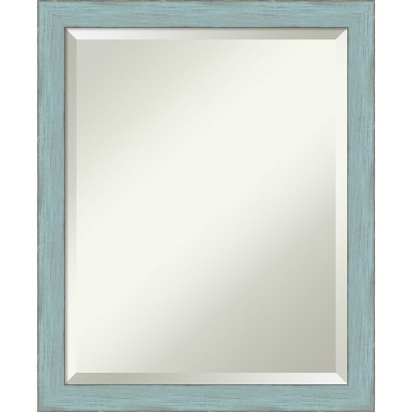 Wall Mirror, Sky Blue Rustic Wood. Opens flyout.
