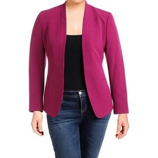 Anne Klein Womens Open-Front Blazer Shawl-Collar Long Sleeves