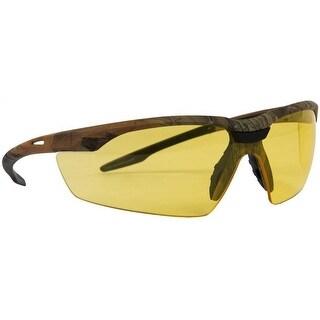Forney 55437 Conqueror Safety Glasses, Amber Lens, Camo Frame