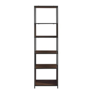 "Delacora WE-BDF70JER  Columbus 20"" Wide Six Shelf Laminate, Wood and Metal Utility Shelf"