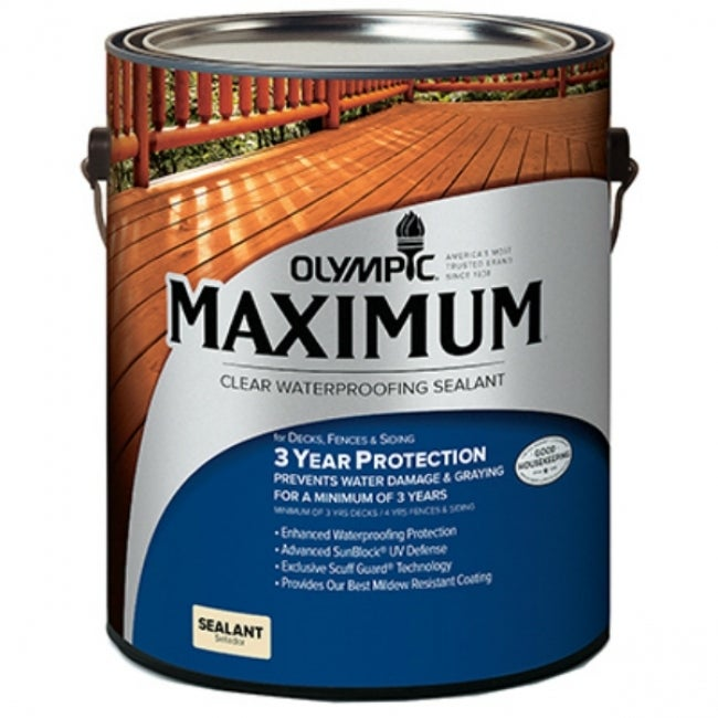 Olympic 56503A/01 Maximum Clear Waterproofing Sealant, 1 Gallon