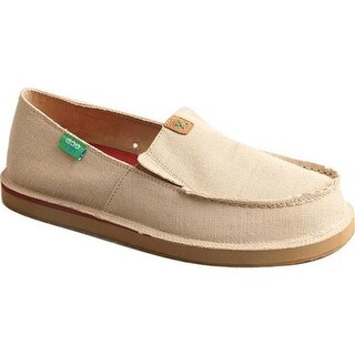 Twisted X Boots Men's MCL0005 Casual Loafer Tan Canvas