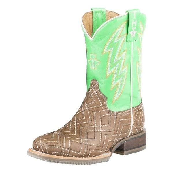 Tin Haul Western Boots Boys Neon Matrix Lightning. Opens flyout.