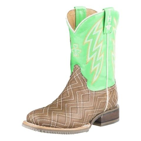 Tin Haul Western Boots Boys Neon Matrix Lightning