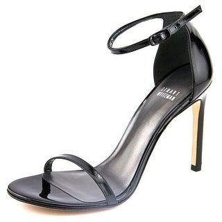 Stuart Weitzman Nudistsong Open Toe Patent Leather Sandals