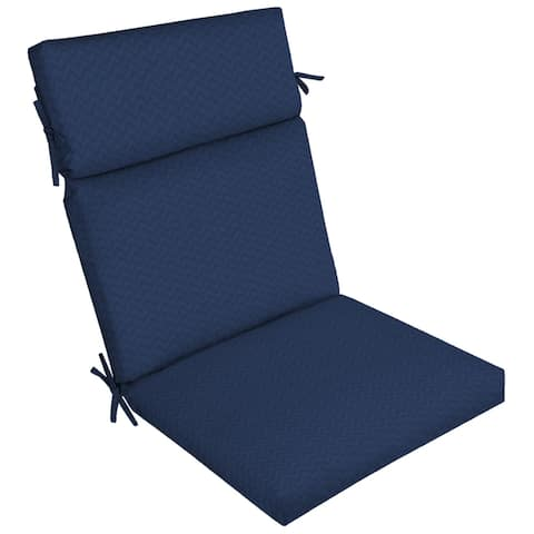 Arden Selections DriWeave Sapphire Leala Outdoor High Back Chair Cushion - 44 in L x 21 in W x 4.5 in H