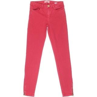 Zara Basic Womens Colored Mid-Rise Skinny Jeans - 4