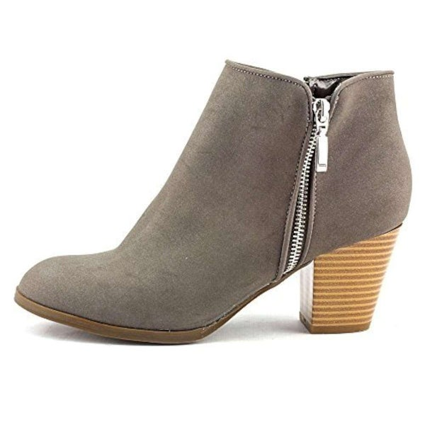 Style & Co. Womens JAMILA Leather Round Toe Ankle Cowboy Boots