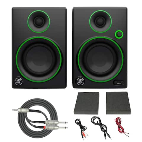 "Mackie CR3 3"" Multimedia Monitors (Pair) with Breakout Cable"