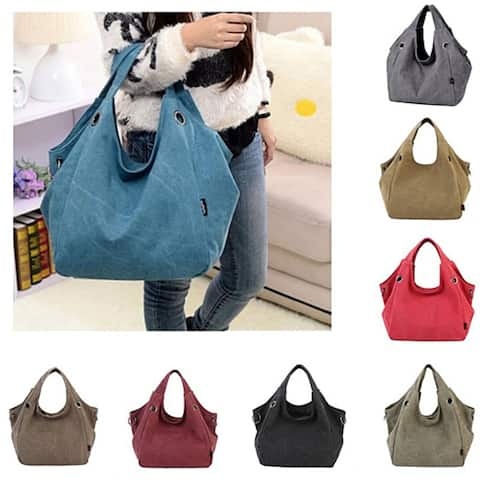 Fashion Vintage Canvas Women Totes Handbag Hobo Shoulder Bag