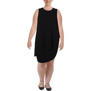 Lauren Ralph Lauren Womens Plus Casual Dress Knee Length A-Line
