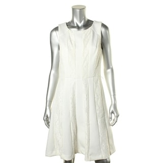 SD Collection Womens Lace Trim Sleeveless Wear to Work Dress - 14