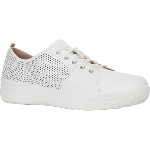 02f3011983 Shop FitFlop Women's F Sporty Scoop Cut Perf Sneakers Urban White Perforated  Leather - Free Shipping Today - Overstock - 21358784