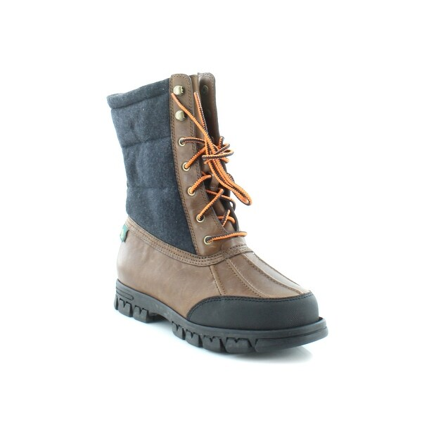 Ralph Lauren Quinlyn Women's Boots Tan / Navy - 5.5