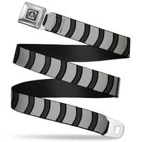 Merarou Face Full Color Black Gray Fade Merarou Stripe Gray Charcoal Seatbelt Belt