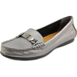 Coach Olive Round Toe Leather Loafer