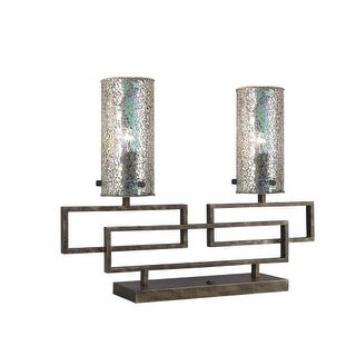 Woodbridge Lighting 13182ABP-M10IRI 2 Light Table Lamp from the Twin Collection
