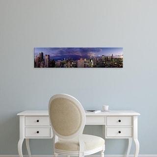 Easy Art Prints Panoramic Images's 'Evening Chicago IL' Premium Canvas Art