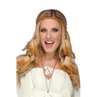 Fun World Hippie Feather Headband - Brown