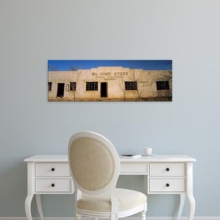 Easy Art Prints Panoramic Images's 'Facade of an abandoned building, New Mexico, USA' Premium Canvas Art