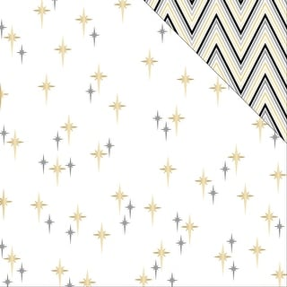 "Glam Factor Double-Sided Cardstock 12""X12""-Seeing Stars (Gold Foil)"