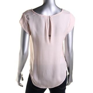 Joie Womens Rancher Silk Back Button Blouse