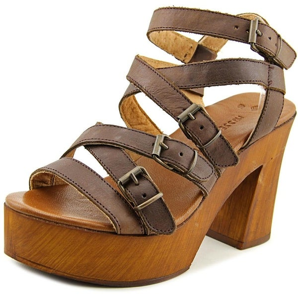 Musse & Cloud Malena Women Open Toe Leather Platform Sandal
