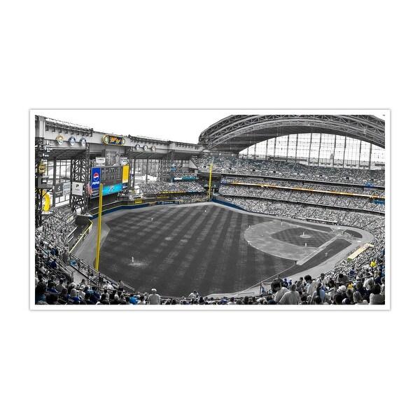 Milwaukee Brewers - Miller Park Touch of Color Baseball Ballparks Matte Poster 24x14